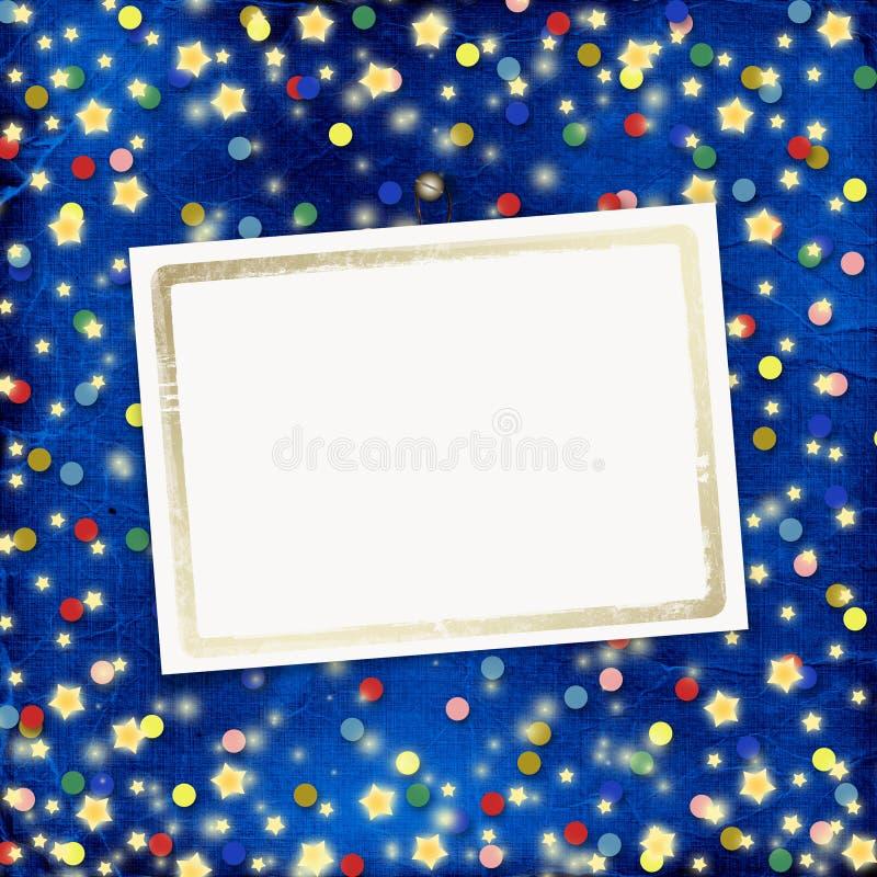 Fond gai bleu avec des confettis illustration libre de droits