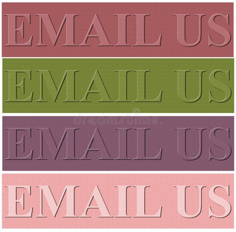 Fond gentil de conception avec l'email nous charme illustration de vecteur