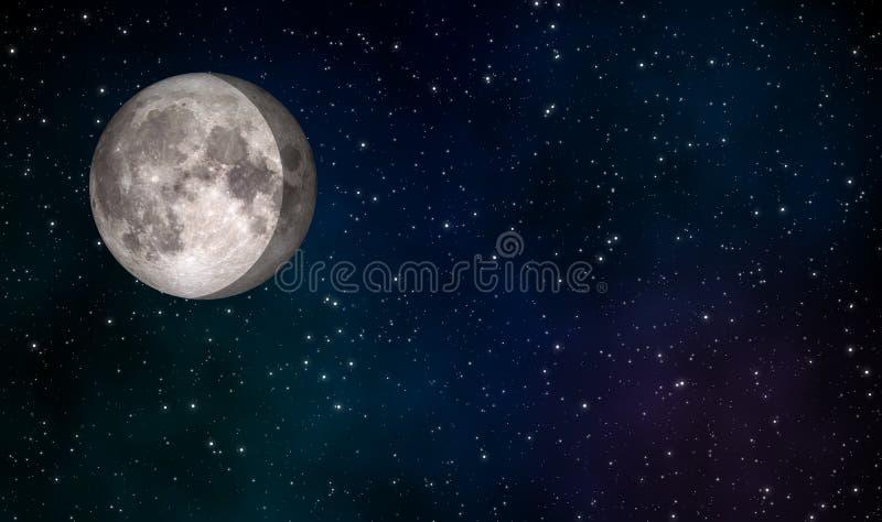 Fond gibbbeux de affaiblissement de conception d'illustration de lune illustration libre de droits