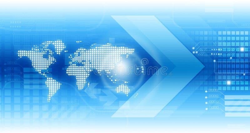 Fond global de technologie illustration de vecteur