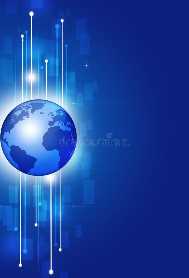 Fond global de technologie de Comunications illustration de vecteur