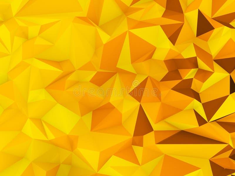 Fond graphique de bas polygone avec le thème jaune de Halloween de thème illustration libre de droits