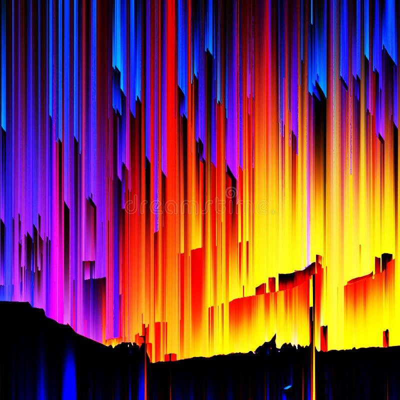Fond graphique de concept, illustration multicolore et numérique photos libres de droits