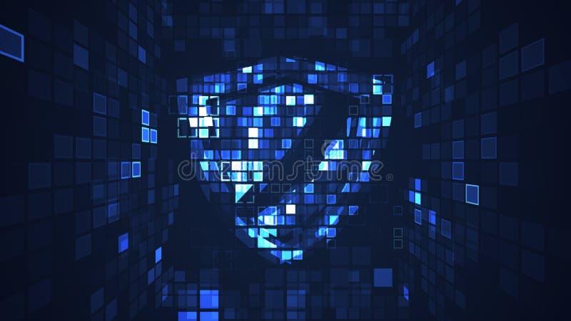 Fond graphique de cyber de technique de protection numérique abstraite de protection illustration libre de droits