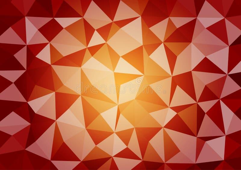 Fond graphique de vecteur de style d'illustration triangulaire géométrique multicolore de gradient Conception polygonale de vecte illustration libre de droits