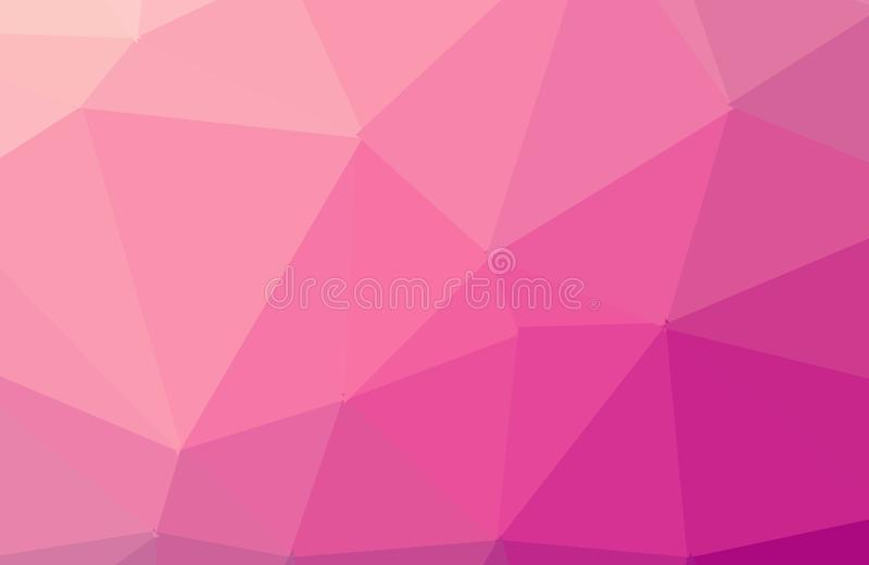 Fond graphique fripé géométrique de basse poly de style de rose foncé multicolore illustration triangulaire de gradient Conceptio illustration libre de droits