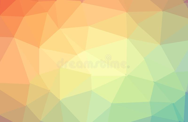 Fond graphique fripé géométrique rouge orange de basse poly illustration triangulaire de style de résumé Conception polygonale de illustration libre de droits