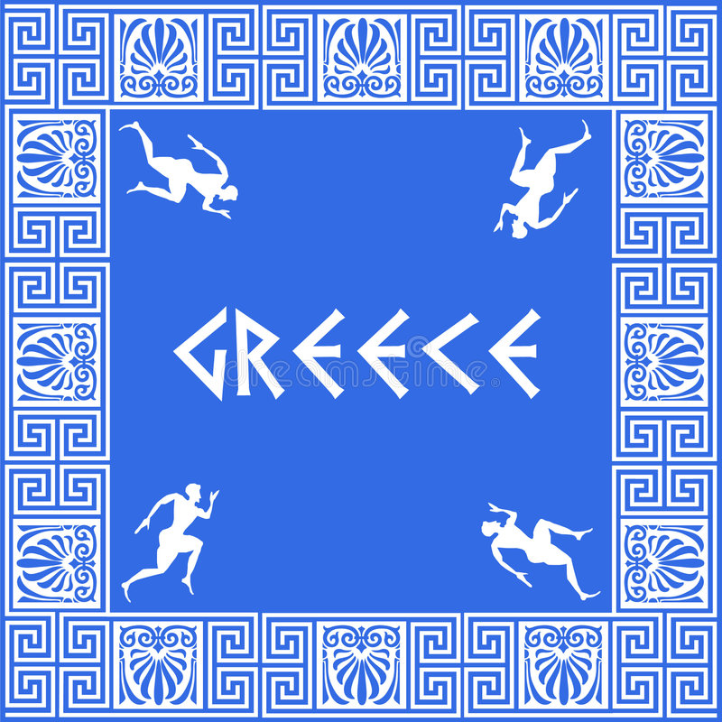 Fond grec de configuration illustration libre de droits