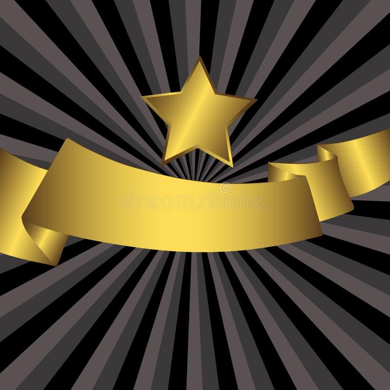 Fond gris abstrait avec l'étoile d'or (vecteur) illustration de vecteur