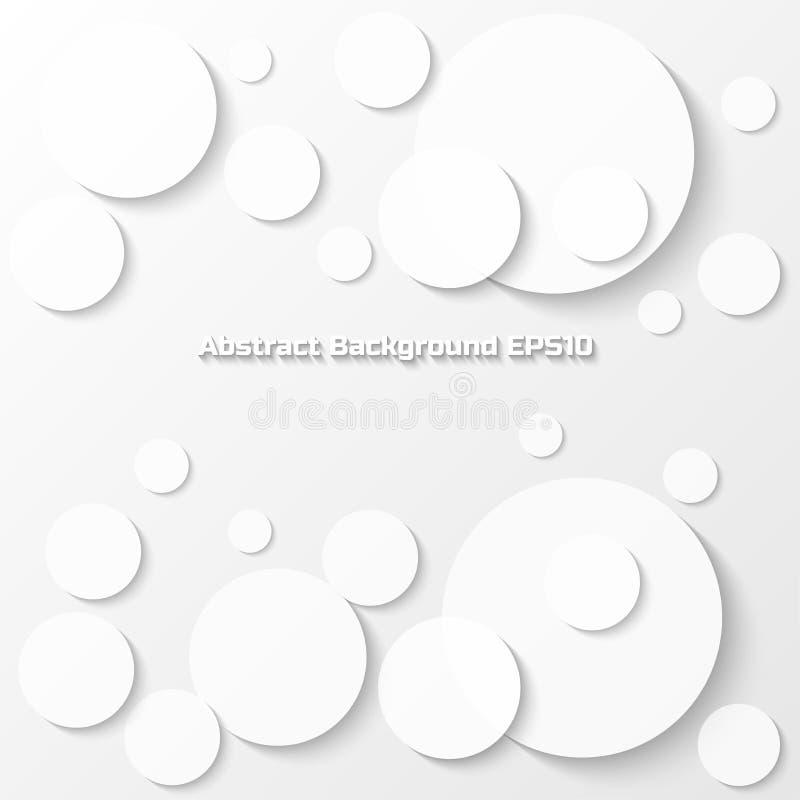 Fond gris abstrait avec le style de papier de cercle illustration de vecteur