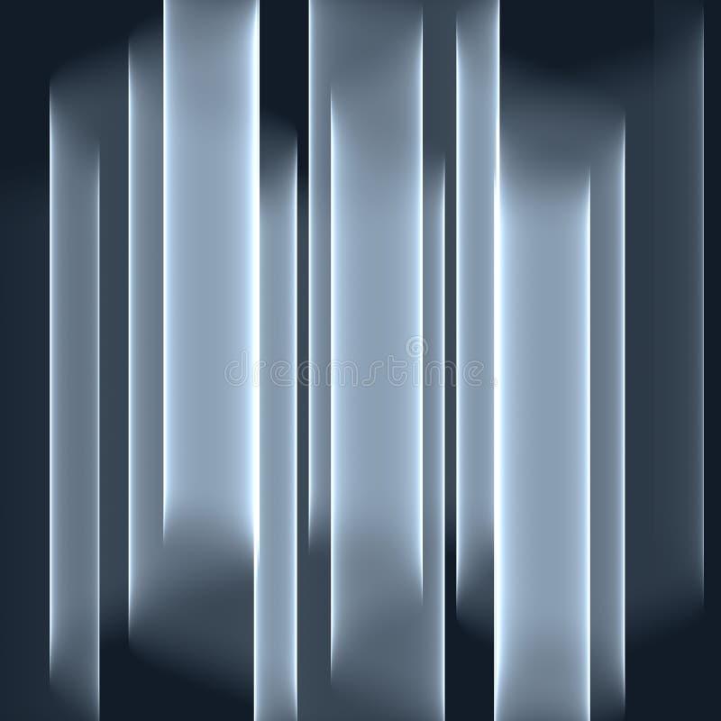 Fond gris abstrait Rayures grises lumineuses Modèle géométrique dans des couleurs grises illustration libre de droits