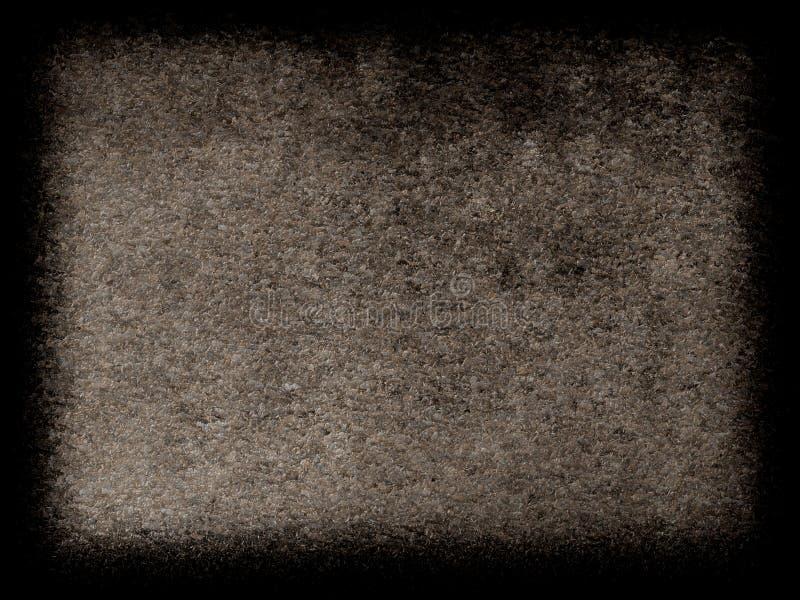 Fond gris avec la conception grunge de frontière de texture de cru et le centre gris-clair image libre de droits