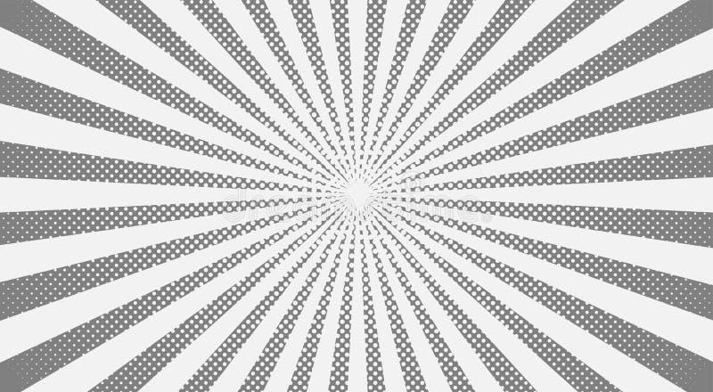 Fond gris d'image tramée de rayons de soleil Illustration de vecteur illustration libre de droits