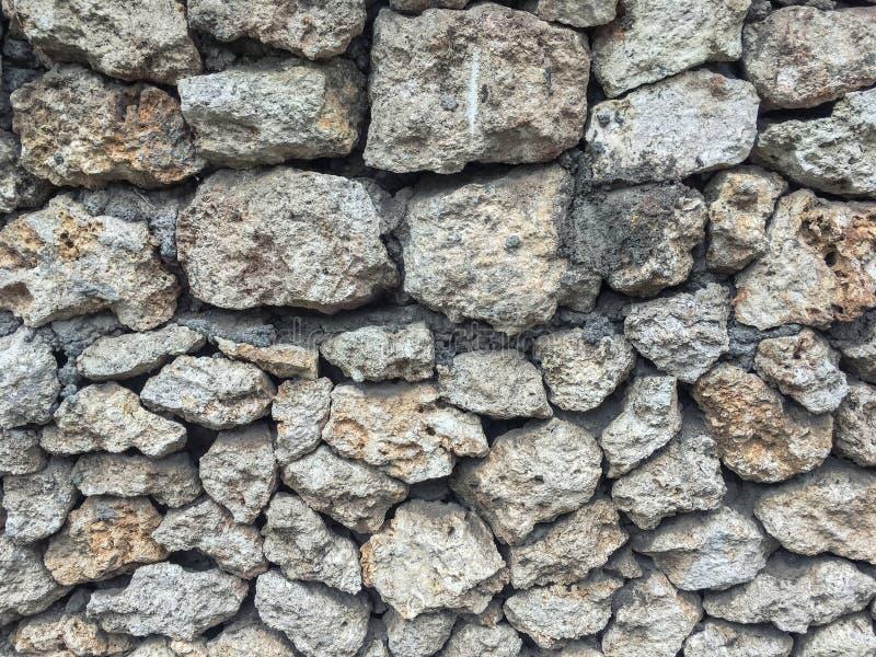 Fond gris de grand pavé rond, contexte de nature photographie stock libre de droits