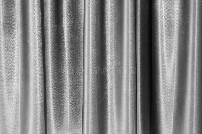 Fond gris de modèle de texture de rideau avec le style de cru de tissu, gris de contexte draper la courbe extérieure décorative photo stock