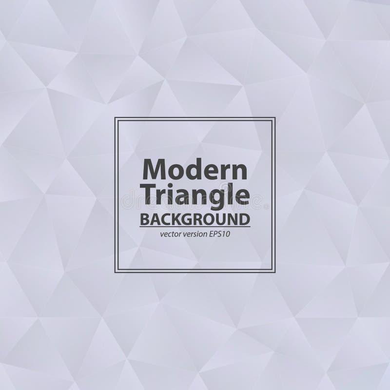 Fond gris de triangle avec la lumière Diamant abstrait gris-clair illustration libre de droits