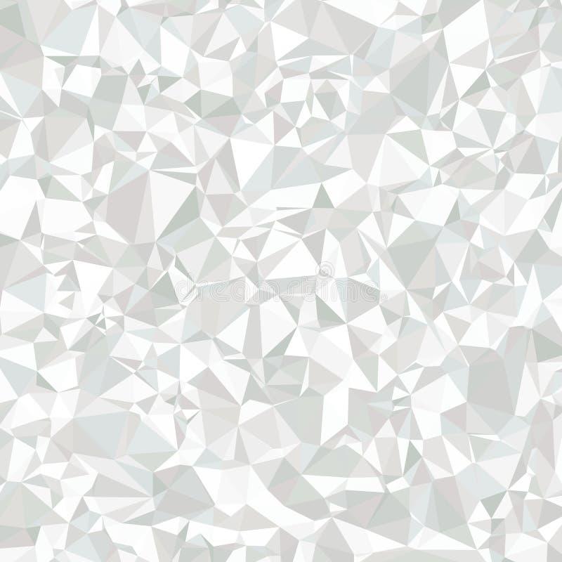Fond gris et blanc polygonal abstrait pour l'universel illustration stock