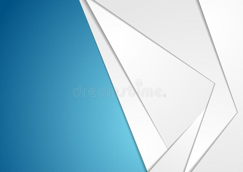 Fond gris et bleu d'abrégé sur technologie illustration de vecteur