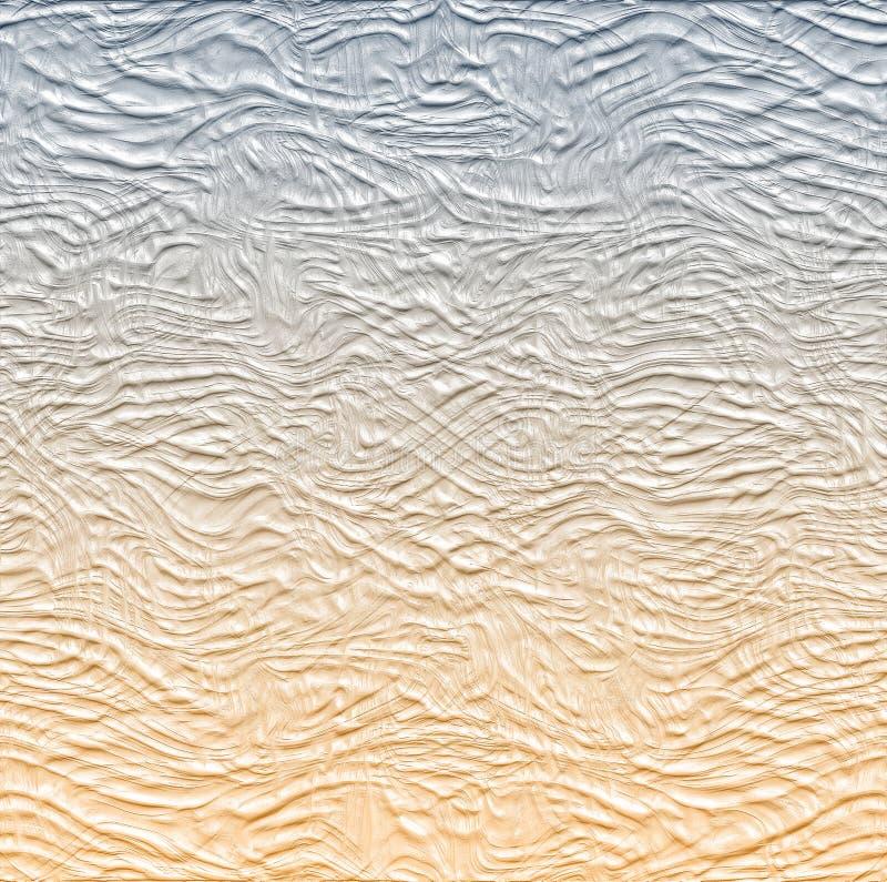 Fond gris et brun blanc abstrait avec les lignes douces illustration libre de droits
