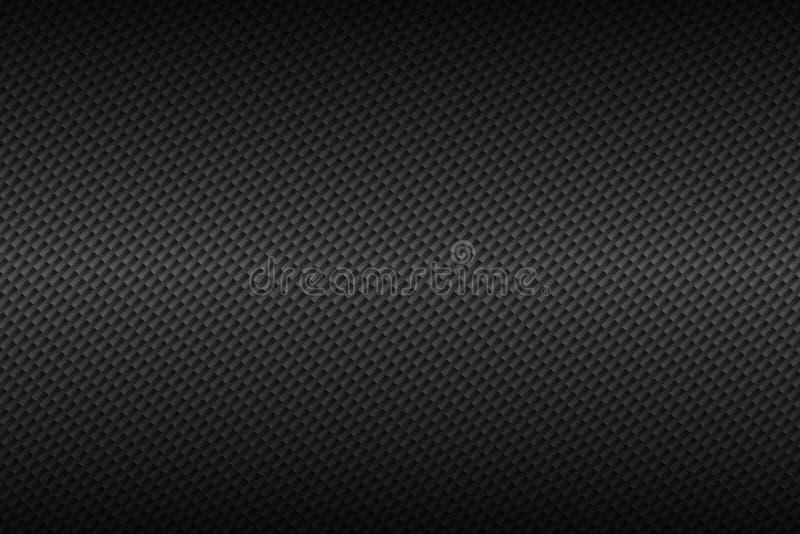 Fond gris-foncé abstrait de carbone, apperance métallique illustration stock