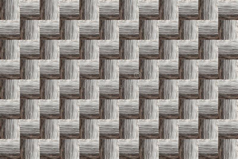 Fond gris géométrique Texture en bois de labyrinthe d'effet d'étape de modèle infinie illustration stock