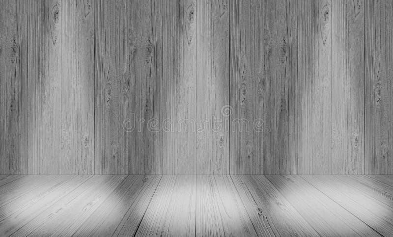 Fond gris mou de pièce de studio, contexte gris de plancher avec le spotl images libres de droits