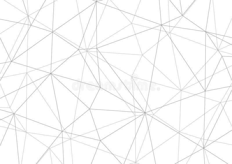 Fond gris polygonal, dessin géométrique de vecteur de résumé illustration de vecteur