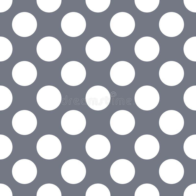 Fond gris sans couture de modèle de point de polka illustration de vecteur