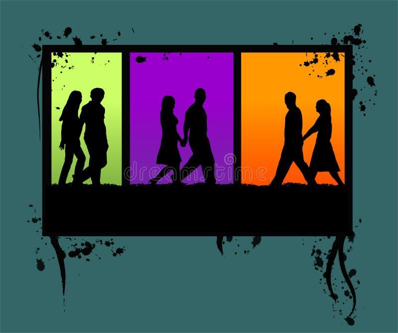Fond grunge illustration stock