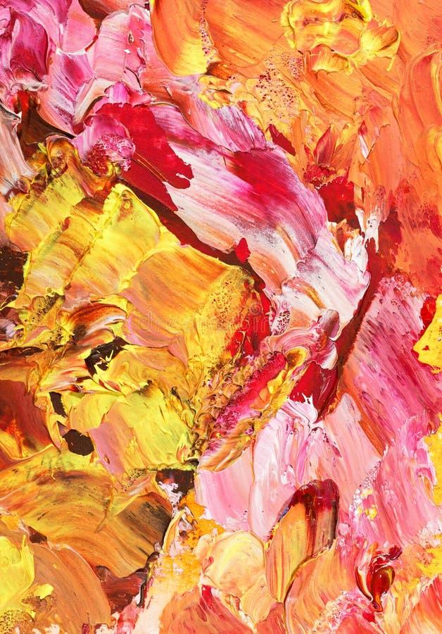 Fond grunge abstrait dans des tons en pastel de rose et d'or photographie stock