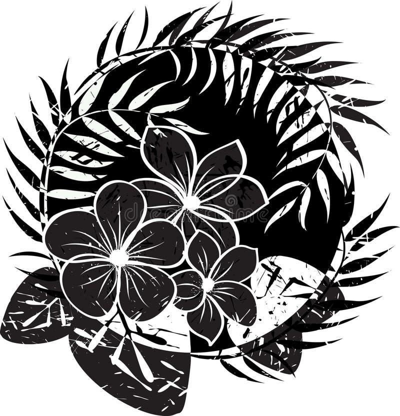 Fond grunge abstrait de fleur illustration libre de droits