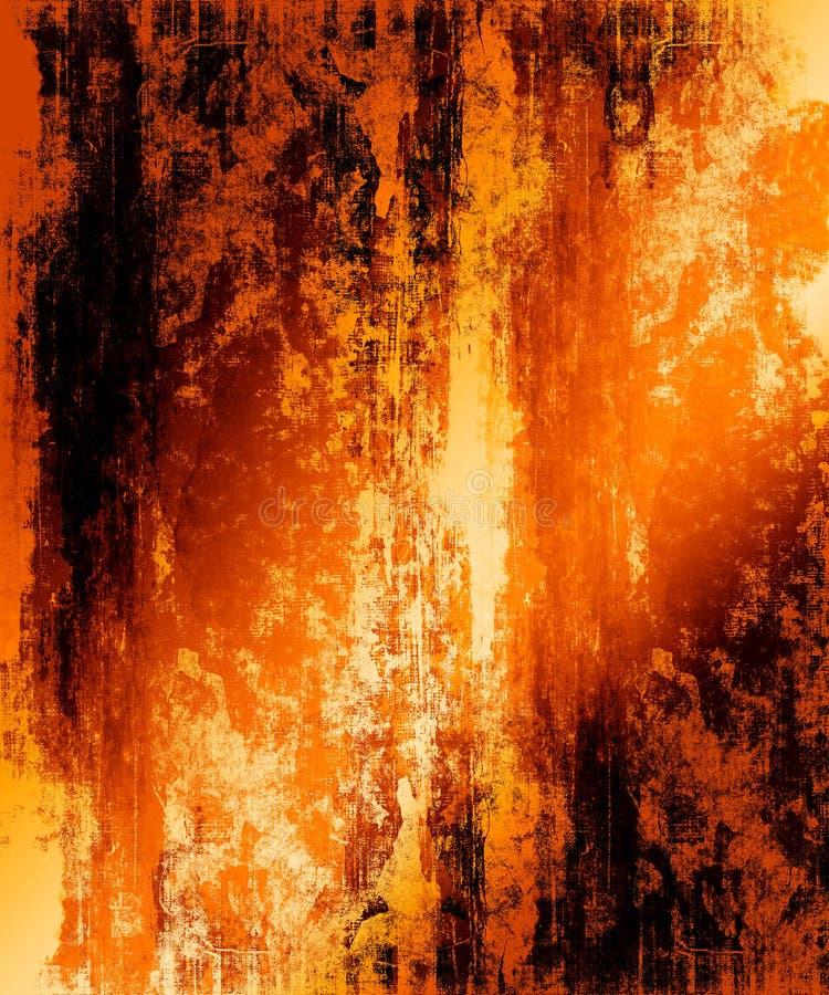 Fond grunge ardent illustration libre de droits