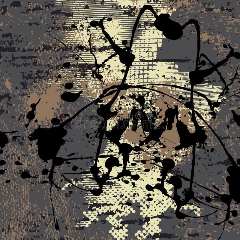 Download Fond Grunge Avec L'éclaboussure Noire Illustration de Vecteur - Illustration du baisses, noir: 8663603