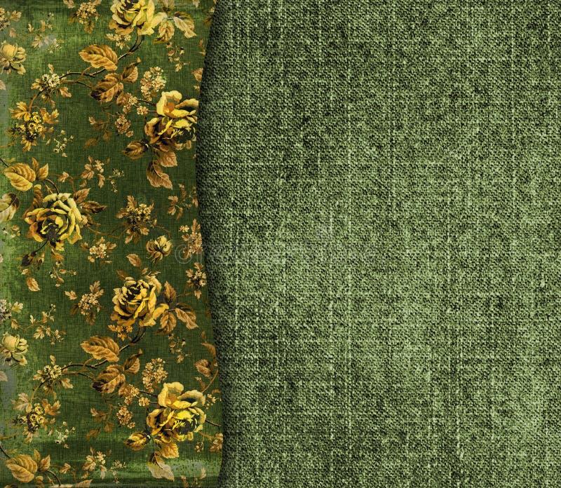 Fond grunge avec les ornements floraux image stock