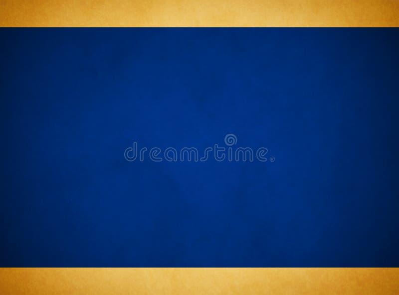 Fond grunge bleu riche ?l?gant Rich Gold Header Footer photo libre de droits