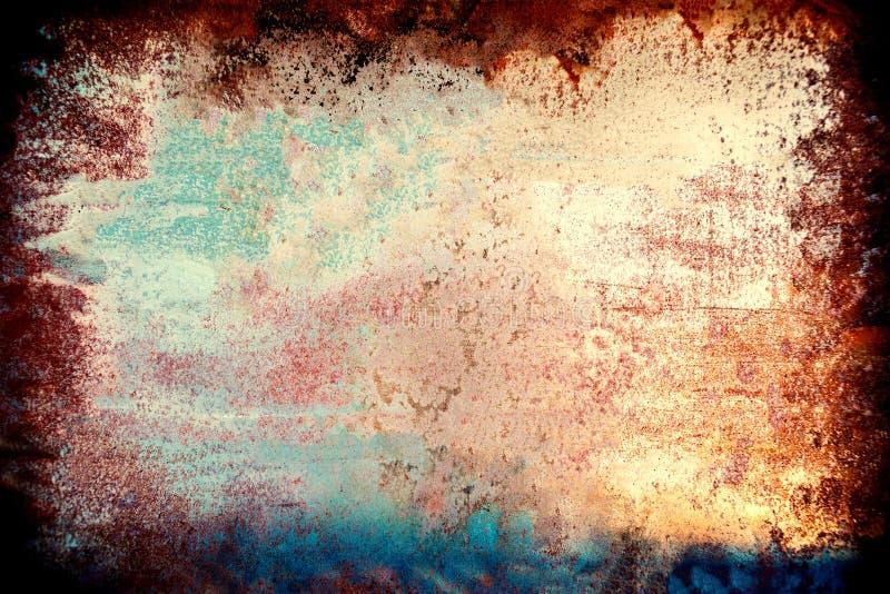 Fond grunge coloré Recouvrement et détresse Backgrou de la poussière image stock