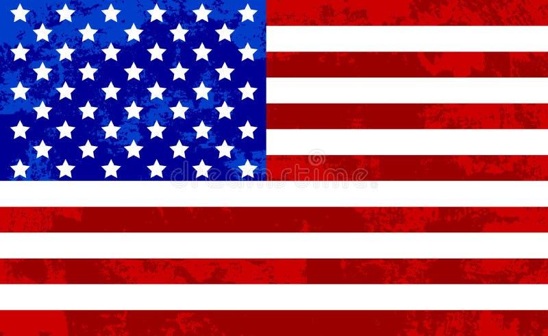 Fond grunge d'abrégé sur texture de drapeau des Etats-Unis illustration libre de droits