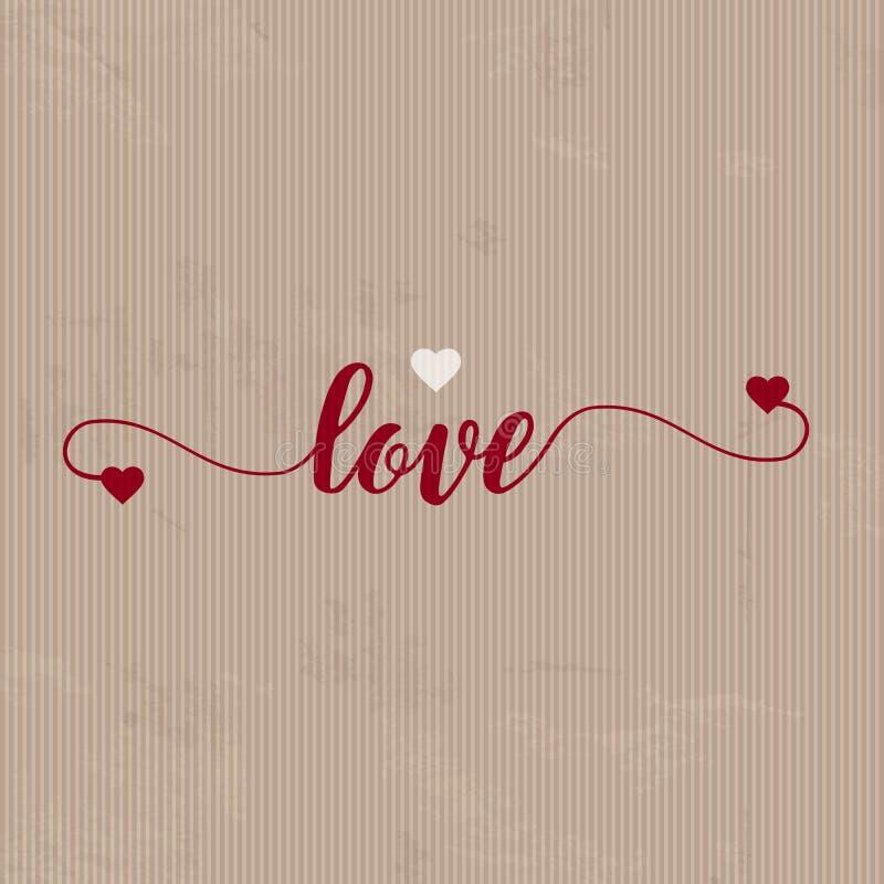 Fond grunge d'amour illustration libre de droits
