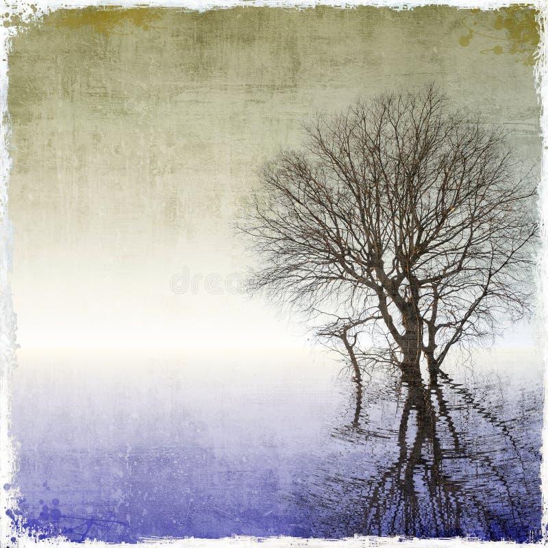 Fond grunge d'arbre illustration de vecteur