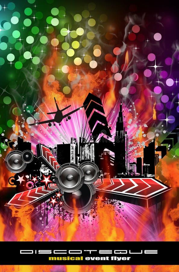 Fond grunge d'aviateur de disco de type illustration libre de droits
