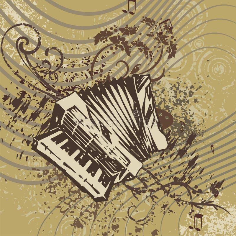 Fond grunge d'instrument de musique illustration de vecteur