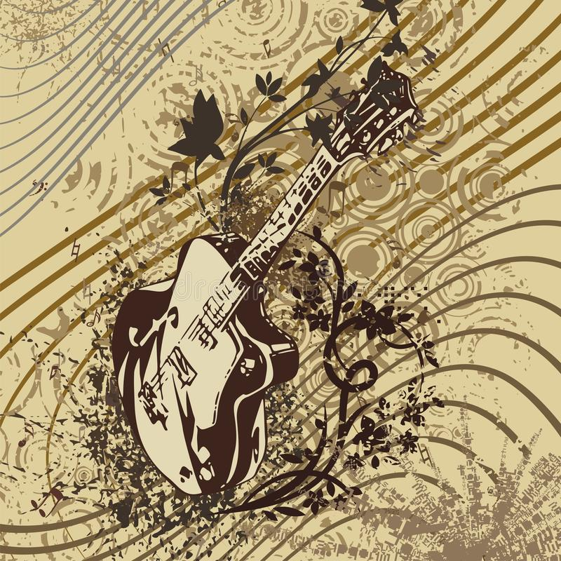 Fond grunge d'instrument de musique illustration stock