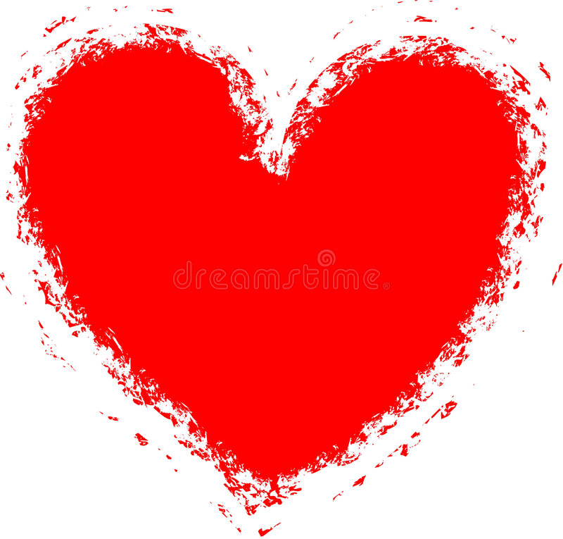 Fond grunge de coeur (trame, cadre), vecteur illustration stock
