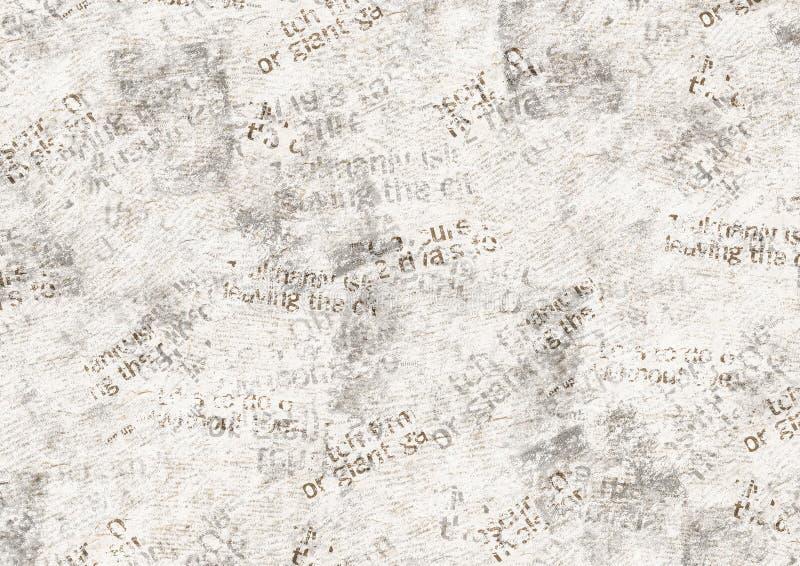 Fond grunge de collage de vintage de journal illustration de vecteur