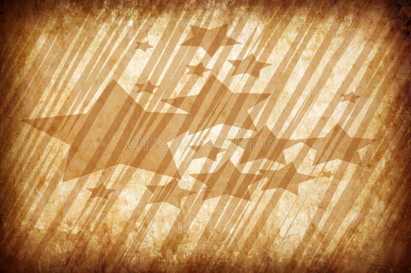 Fond grunge de cru abstrait avec des étoiles illustration libre de droits