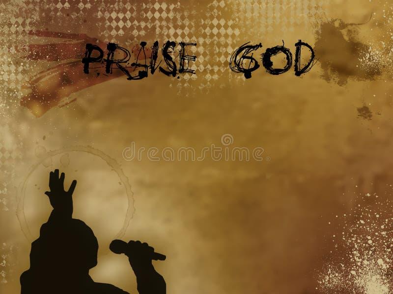 Fond grunge de Dieu d'éloge illustration stock