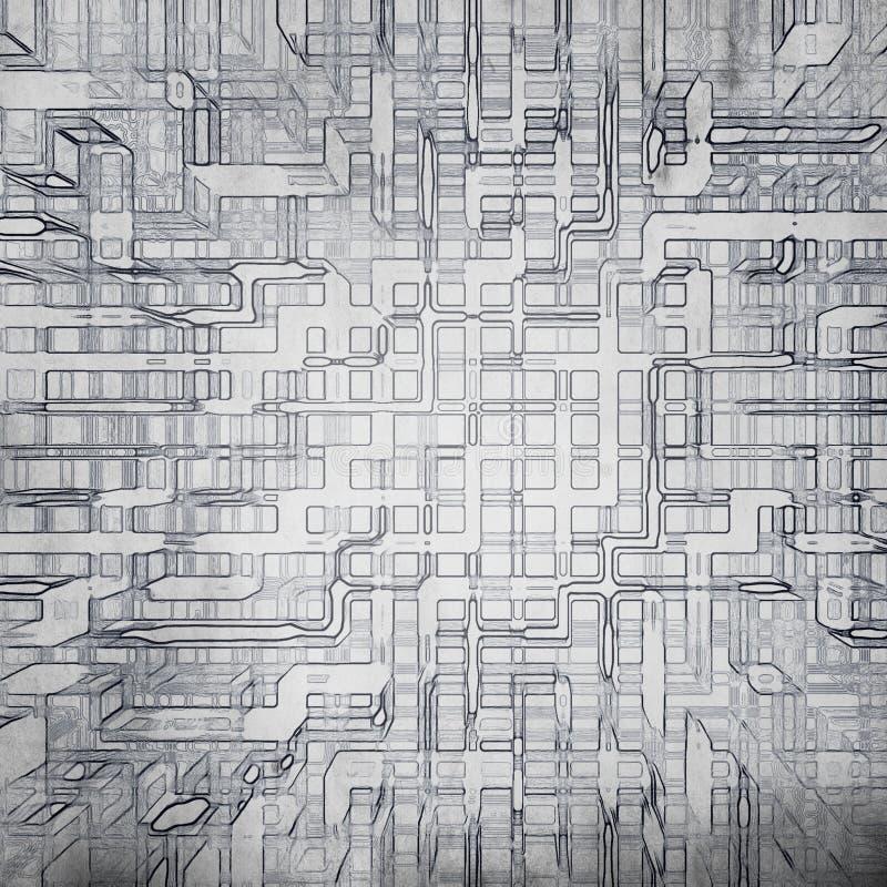 Fond grunge de Digitals illustration de vecteur
