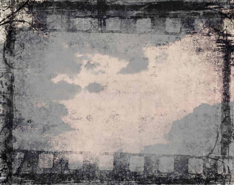 Fond grunge de film illustration de vecteur