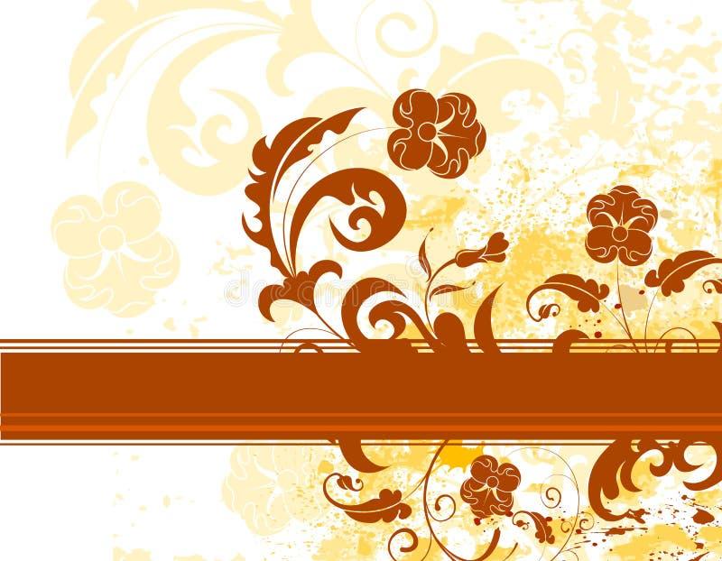 Fond grunge de fleur illustration libre de droits