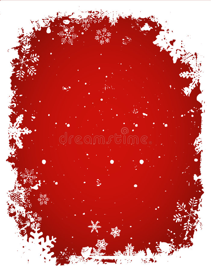 Fond grunge de flocon de neige illustration stock
